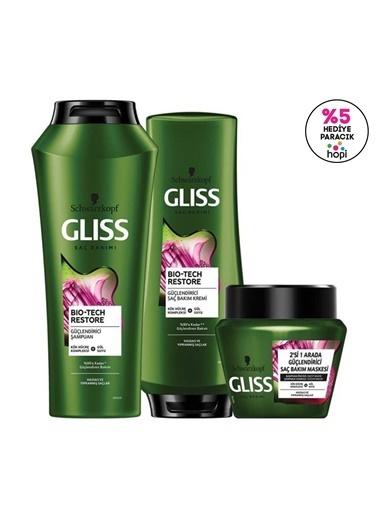 Gliss Gliss Biotech Güçlendirici Saç Bakım Seti Şampuan 500 Ml + Saç Kremi 360 Ml + Saç Maskesi 300 Ml Renksiz